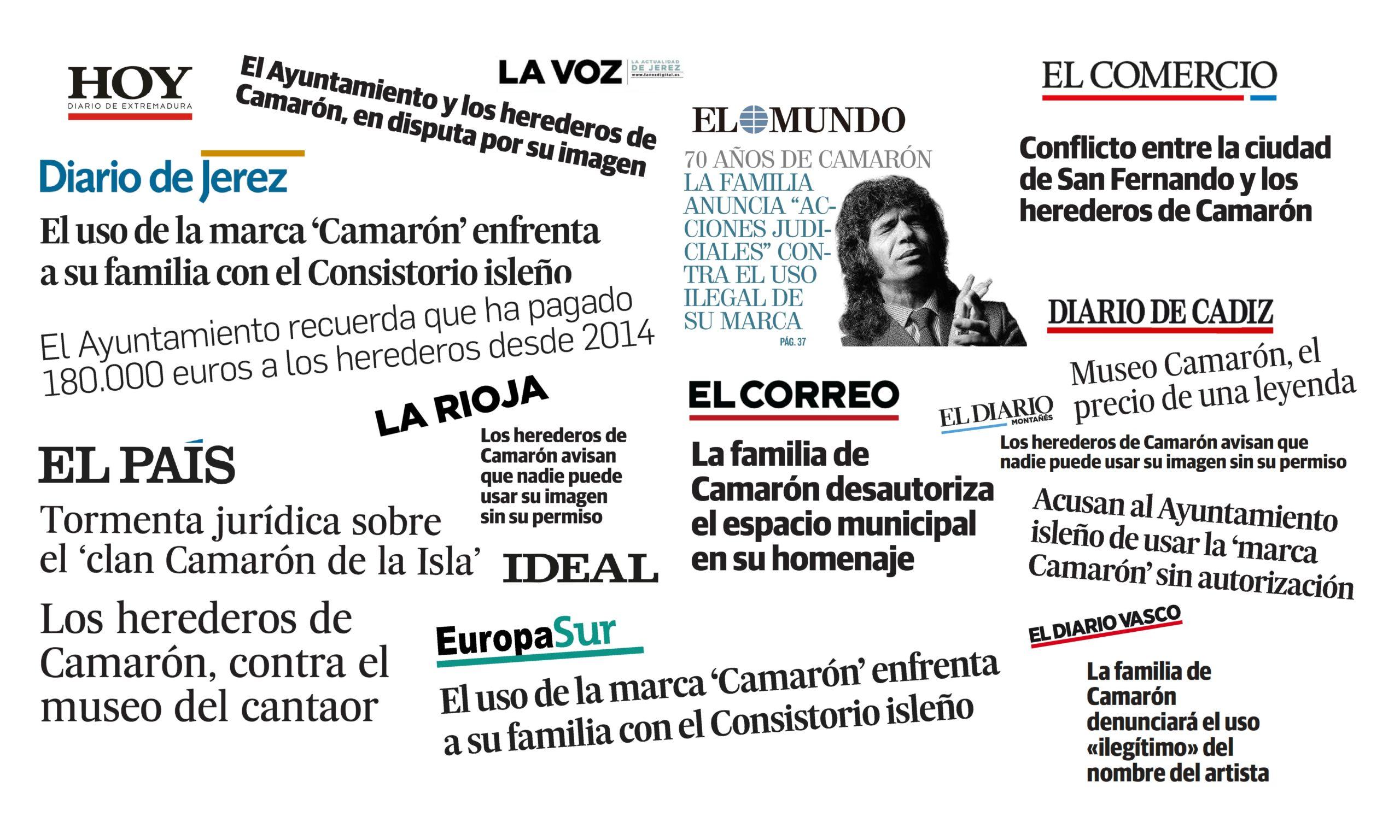Los herederos de Camarón advierten al Ayuntamiento de San Fernando que no tiene los derechos para la utilización de la imagen ni la marca del artista